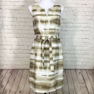 Tommy Bahama Ikat Stripe Linen Sleeveless Dress S